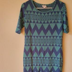 Lularoe Julia dress medium teal blue